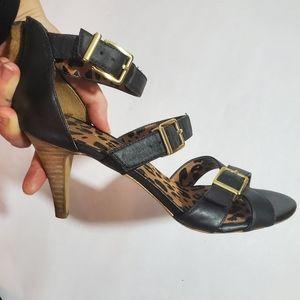 Black strapped Jessica Simspon heels